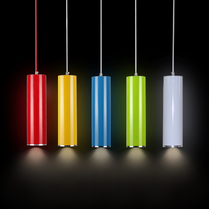 Simple LED creative personality cylindrical cylindrical tube length restaurant bar front color single head Pendant lamp LO8114 цена