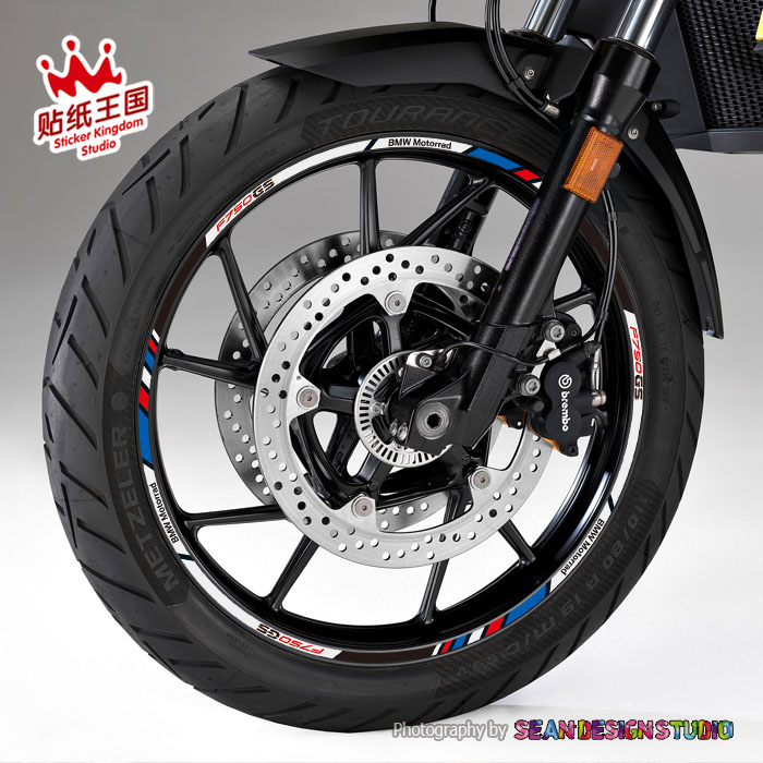 Pour BMW Motorrad F750GS F850GS autocollants de roue de moto autocollants réfléchissant étanche jante moto adapté