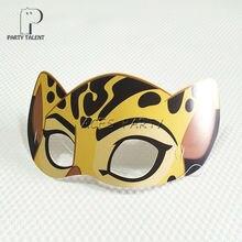 Toy Fuli-Mask Party-Supplies Birthday-Decoration Jungle-Animals Leopard Kids Children