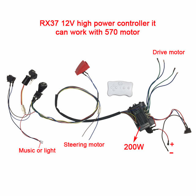 Astounding Children Electric Car Diy Modified Wires And Switch Kit With 2 4G Wiring Cloud Hisonuggs Outletorg
