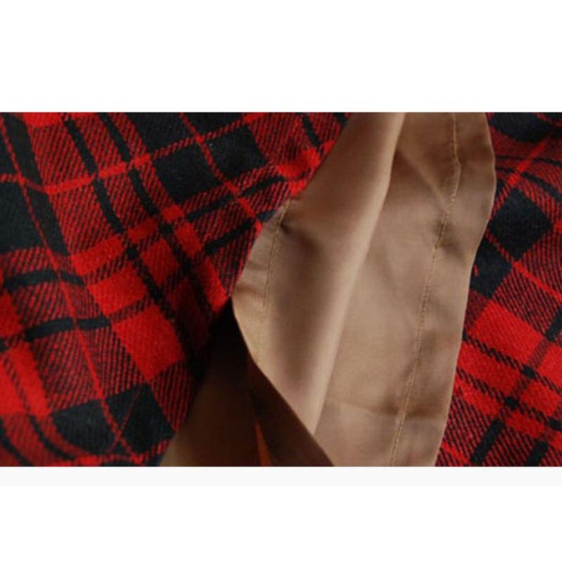 Grille Plaid La 5xl Rétro 6xl Xxxxxl Plus Pour Longue Taille Maxi Rouge red Jupes Treillis Femmes De Casual Vintage Laine Hiver Green Femelle 2018 OEq7I