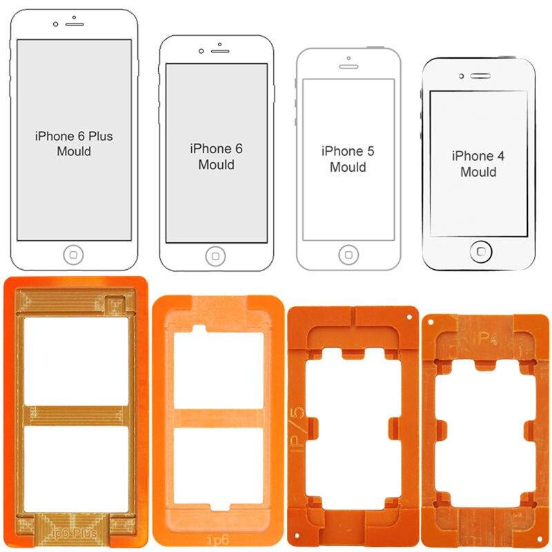 1 Set 4 in 1 Plastic Mobile Phone Refurbish Refurbishment LCD Glass Removal Separator Repair Mold Mould for iPhone4,5,6,6 plus