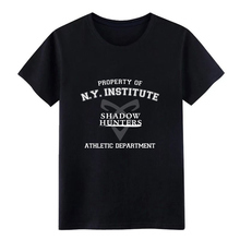 Shadowhunters Property Of The New York Institute t shirt Printing tee plus size 3xl Standard Crazy