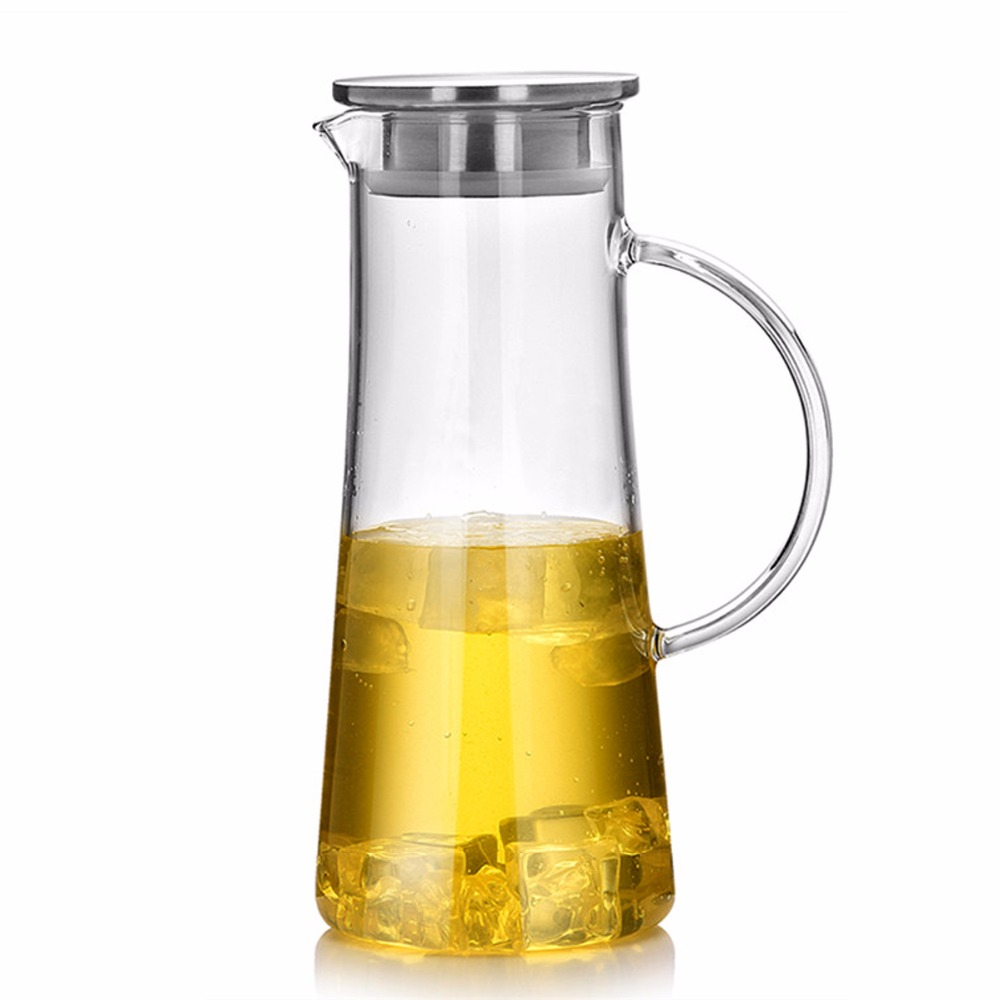 popular glass water jugbuy cheap glass water jug lots from china  - homestia beverage pitcher coffee pot water jug  ounce top grade glasspitcher clear heatproof glass