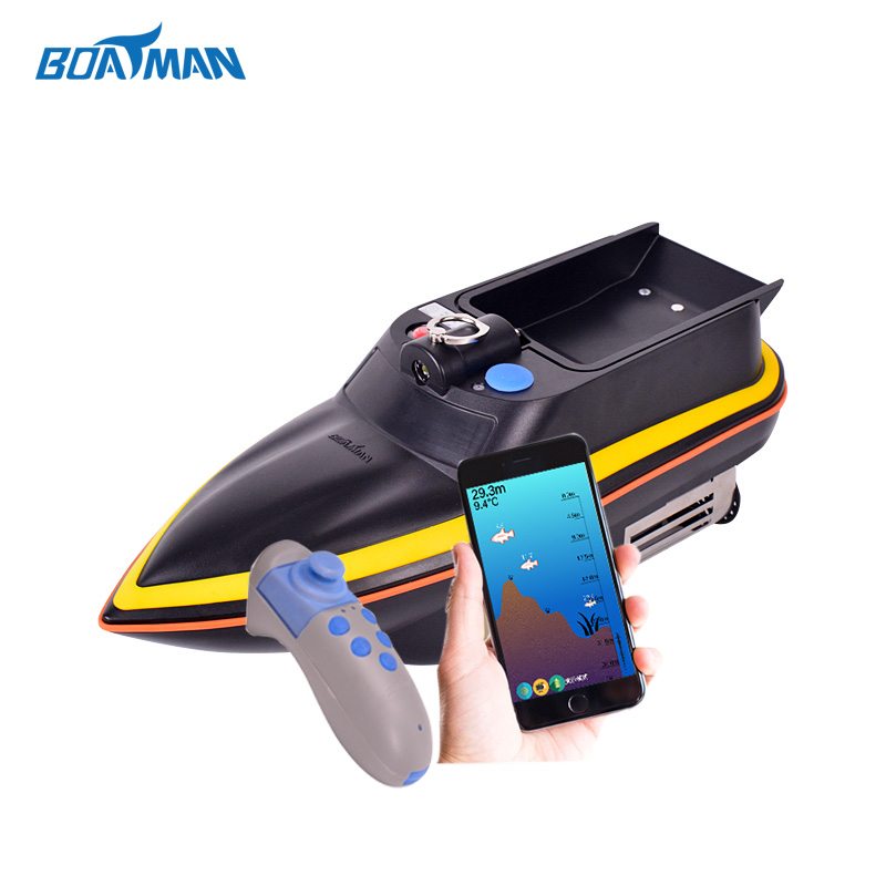 Boatman mini fish finder remote control fishing lure boat mini fast electric fishing bait boat 300m remote control 500g lure fish finder feeder boat usb rechargeable 8hours 9600mah