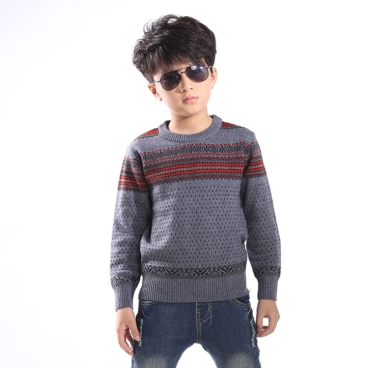2017 Children's sweater Children's clothing Winter new Keep warm Cashmere sweater High collar and round collar Kids for boys