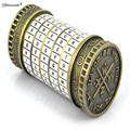 Yamala Leonardo da Vinci Educational toys Metal Cryptex locks gift ideas holiday gift to marry lover escape chamber props