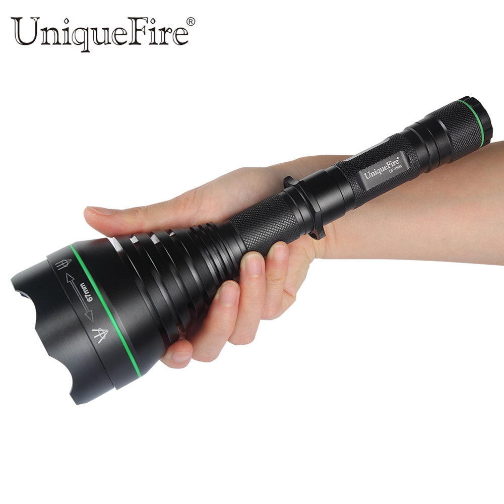 UniqueFire Hunting Flashlight 3 Modes UF-1508 IR850nm T67 Tactical Zoom Flashlight Torch For Battery 18650 Rechargeable Lanterna skilhunt 3 7v 3400mah 18650 protected rechargeable battery for flashlight black silver
