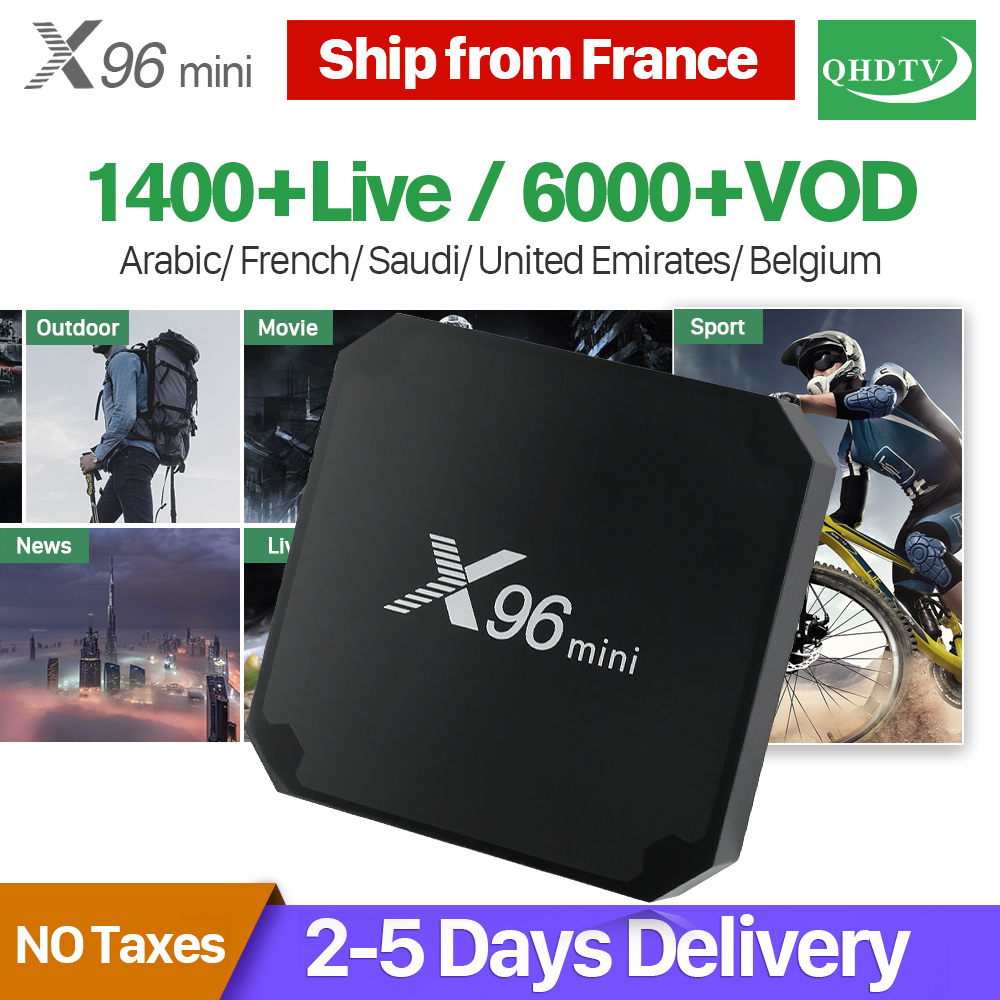 X96 mini French Arabic IPTV Box 1 Year QHDTV Code Subscription Smart X96MINI TV Box Android 7.1 Netherlands Belgium France IP TV belgium culture smart
