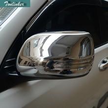 Tonlinker 2 pcs DIY Car styling ABS Chrome reversing mirror light strip cover case Stickers for Toyota Prado 2010-15 accessories