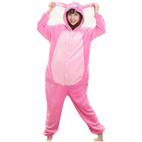 Animal Anime Blue stitch costumes Pink Stitch Onesie Women Cartoon Cosplay Costume Pajama All In One Party Onesie Sleepwear