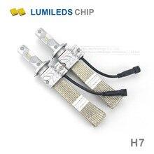 2x Coche H7 Faros LED 8000LM Para Chips de Lumileds LUXEON ZES Reemplazar la Fuente de Luz de Niebla del coche DRL Que Conduce los Bulbos con Cobre de Refrigeración