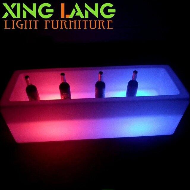 waterdichte rgb kleur veranderende verlichting bar led ijsemmerled verlichte bier koeler
