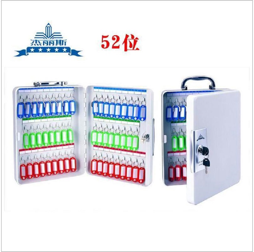 Key Cabinet Lockable Metal Box With 52 Tags Wall Mounted Security Key Storage For Property Management Company Home Office practical key safe box lockable security metal key cabinet storage box safe 20 tags fobs wall mounted key security box wholesale