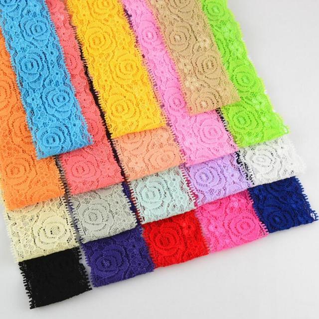 Wholesale Elastic Lace Headband Kid Diy Hair Band Accessories