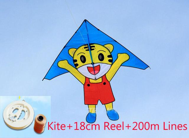 O envio gratuito de alta qualidade tigre dos desenhos animados pipa com alça linha de pipa nylon ripstop pipa fábrica paraglider pipa biruta juliet