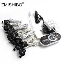 ZMISHIBO 12V ミニ Led ブラックキャビネットライト調光可能なランプセットリモコン 1.5 ワット 27 ミリメートルカット穴天井凹型スポットライトダウンライト