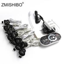 ZMISHIBO 12V Mini LED siyah dolap lambası kısılabilir lamba seti uzaktan kumanda 1.5W 27mm kesim delikli tavan gömme spot downlight