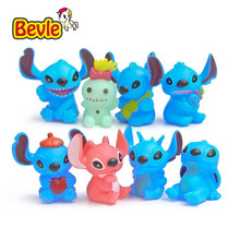 Bevle Lilo & Stitch Cartoon Characters 8 Piece/lot Stitch Family PVC Action Figure 5cm Vinyl Doll Figure Toy