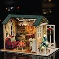 Рождественский Подарок Новый Год День Рождения Подарки Творческие Бесплатная Миниатюрный Кукольный Дом Модель Строительство Комплекты Деревянные Игрушки