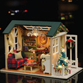 Christmas Gift  New Year Birthday Gifts Creative Free Miniature Doll House Model Building Kits Wooden Furniture Toys