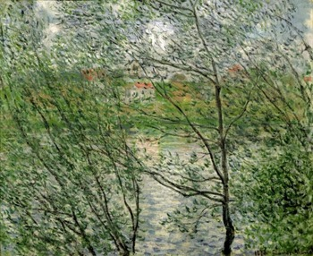 High quality Oil painting Canvas Reproductions The Isle Grande-Jatte on the Siene (1878) By Claude Monet hand painted