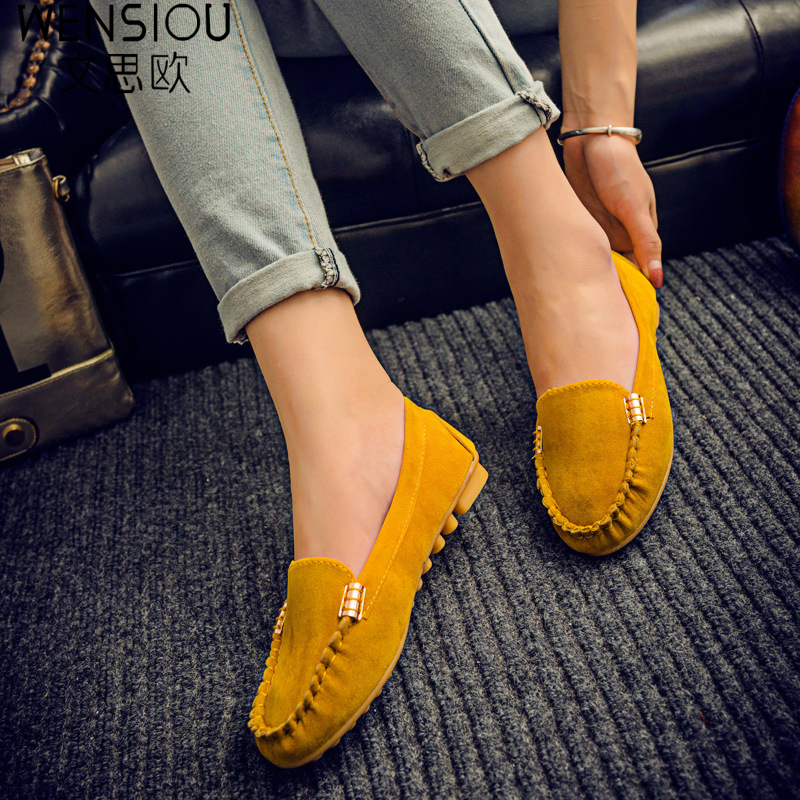 Hot sale women casual shoes fashion summer slip on candy color women flat shoes loafers flock comfortable ladies shoes DT81