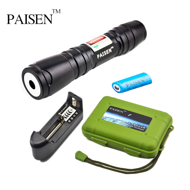 e40b7edffa0 High Power 200mw 250mw 500mw Green Red Purple Laser Pointer Flashlight  Adjustable Zoom Starry Torches w/ 16340 Battery + Charger