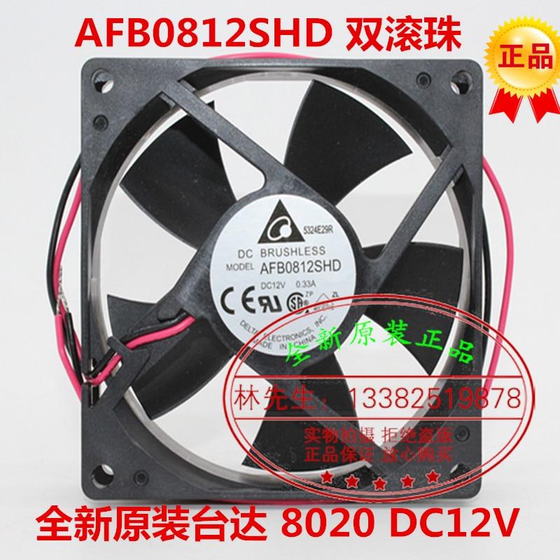 Новый Дельта AFB0812SHD DC12V 0.33A 8 см 8020 Процессор ATX вентилятор охлаждения