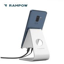 ФОТО rampow mobile phone holder desk tablet stand aluminium phone charging stand holder for samsung galaxy s9 for iphone x for xiaomi