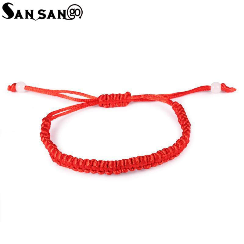 5pcs Ethnic Style Handicraft Polyester Braided Rope Bracelet Traditional Chinese Red Thread Bring Lucky Jewelry For Woman Men