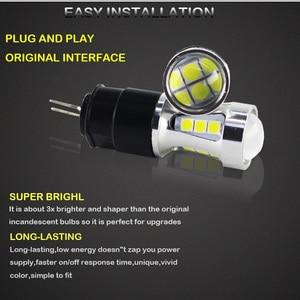 Image 2 - 오류 무료 hp24w g4 18smd 3030 12 v led 낮 실행 조명 전구 램프 시트로엥 c5 및 푸조 3008 led drl 빛, 흰색