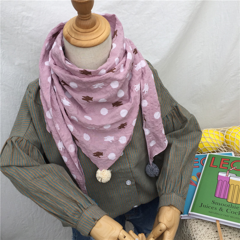Весенние клетчатые треугольные шарфы в горошек для маленьких девочек; осенне-зимняя шаль для мальчиков и девочек; Детские хлопковые воротники; теплый детский шейный платок