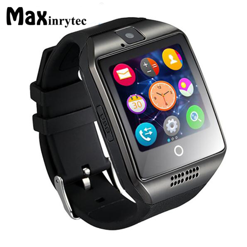 Maxinrytec Smart Watch Q18 Digital Wrist For Men Bluetooth Electronics SIM Card Sport Smartwatch Camera For iPhone Android Phone smart watch q18 gold