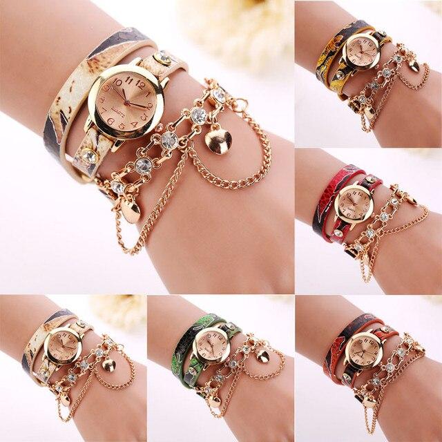 New 2018 Women Bracelet Watch Luxury Rhinestone Chain Dress Fashion Casual Wrist