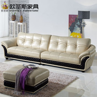 Mide East Style 4 Seat Chesterfield Leather Sofa Hot Sale Dubai Leather Sofa Furniture 623B