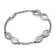 Aangepaste mode gepersonaliseerde armband, drie namen graveren koper familie armbanden speciale cadeau voor vriendin en vrouw en vriend