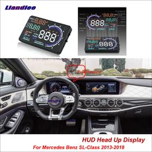 купить Liandlee For Mercedes Benz SL-Class 2013-2018 OBD Safe Driving Screen Car HUD Head Up Display Projector Refkecting Windshield дешево