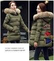 2016 Зимние Корейский беременных женщин перо мягкий Девушки длинный участок толщиной хлопка куртки пальто M-XXXL большой размер