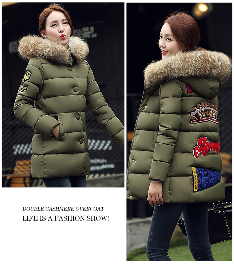 2016 Winter Korean pregnant women feather padded Girls long section of thick cotton jacket coat M-XXXL large size pregnant women of han edition easy to film a word long woman with thick cotton padded clothes coat quilted jacket down jacket