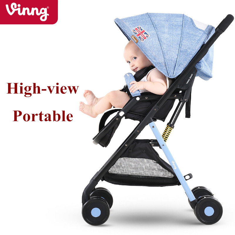 4.9kg Super Light Baby Stroller, Portable Pram, Baby Buggys Carry on Plane, High-view Folding Pushchair, Sit & Lie Down fashion baby stroller high view portable bidirectional foldable aluminum alloy shock absorption baby pram pushchair buggys