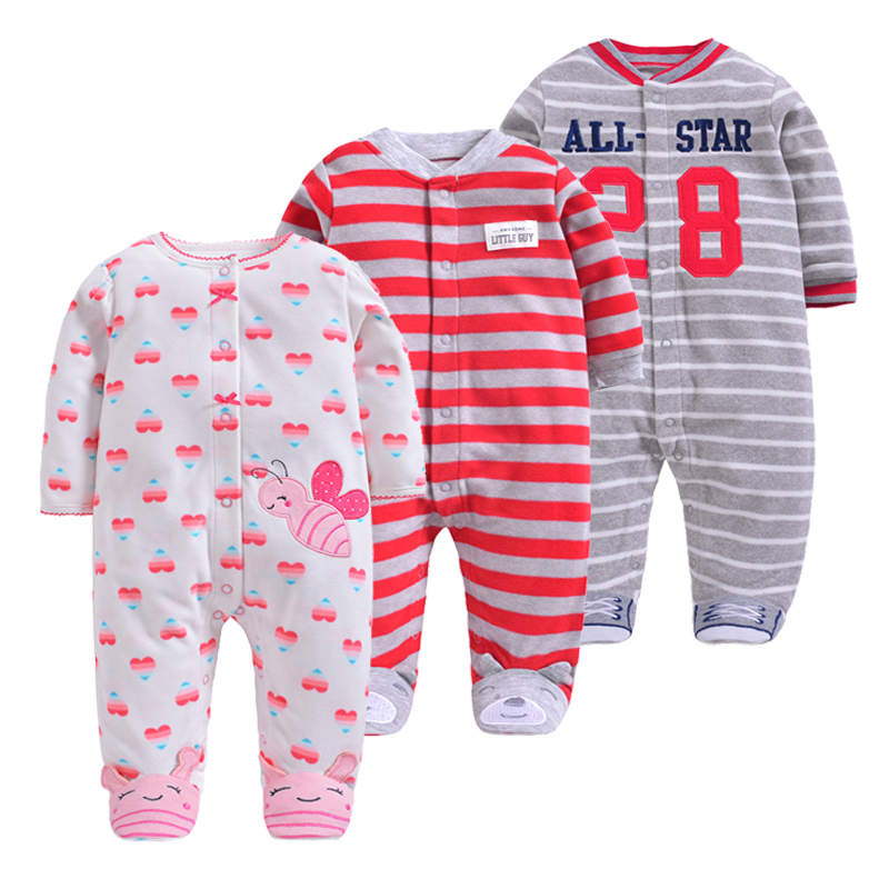 Christmas Girls Baby Clothes   Rompers  ,fleece Unisex Kids Long Sleeve   Rompers   Newborn Clothes Animal Jumpsuit Autumn Boy Pajamas