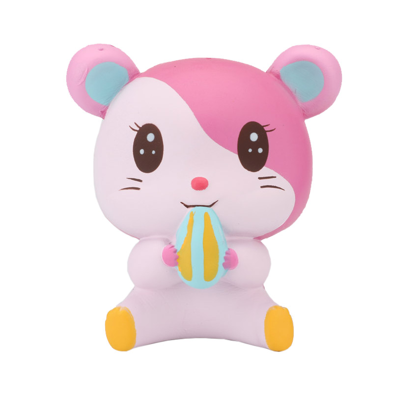 Cute Hamster Squishy Toy Jumbo Squeeze Slow Rising Animals Squirrel Adults Healing Anti-stress Toys Mouse