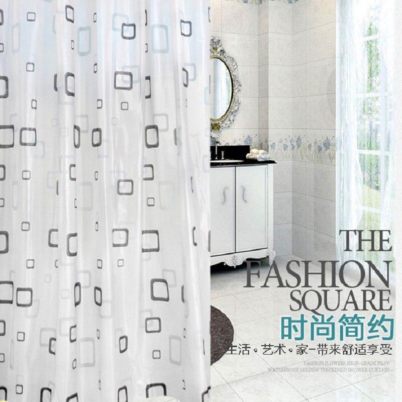 Plaid Decor Shower Curtain 180x180cm PEVA Bathroom Curtain Modern Waterproof Moldproof 3D rideaux de douche With Plastic Hooks
