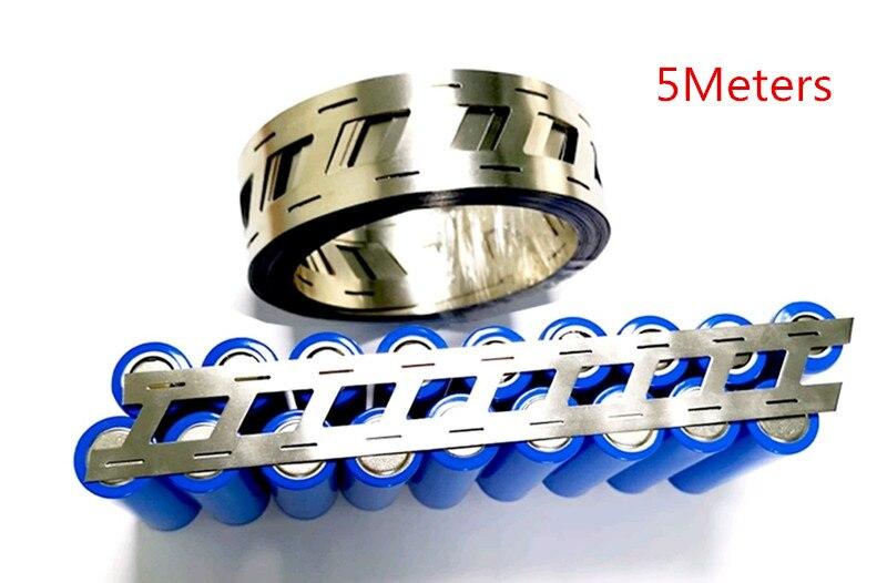 5 Meters/belt ! High Purity Pure Nickel Belt 2P Lithium Battery Nickel Strip Li-ion Batteries Ni Plate Used For 18650