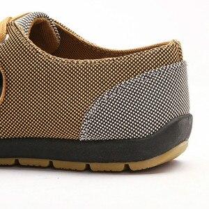 Image 3 - Mężczyźni buty moda płócienne buty dla mężczyzn obuwie letnie oddychające żółte Comfortbale espadryle trampki płaskie buty męskie duże rozmiary