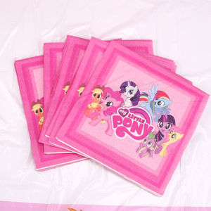 Image 5 - Optioneel Little Pony Decoratie Kids Party Gunsten Platen Vork Kinderen Kids Verjaardagsfeestje Levert Wegwerp Servies Sets