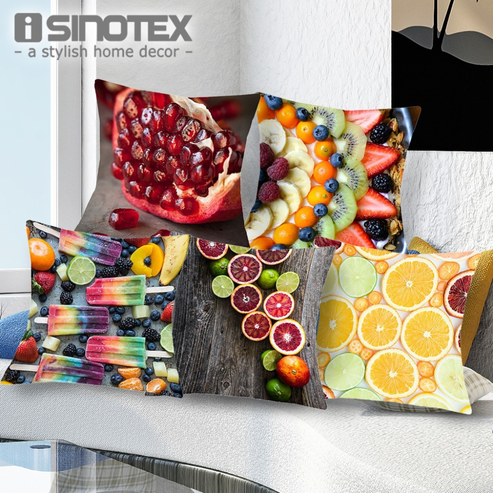 online buy wholesale summer throw pillows from china summer throw  - cool summer fashion fruit printed cushion covers for sofa bad home cardecorative hidden zipper throw
