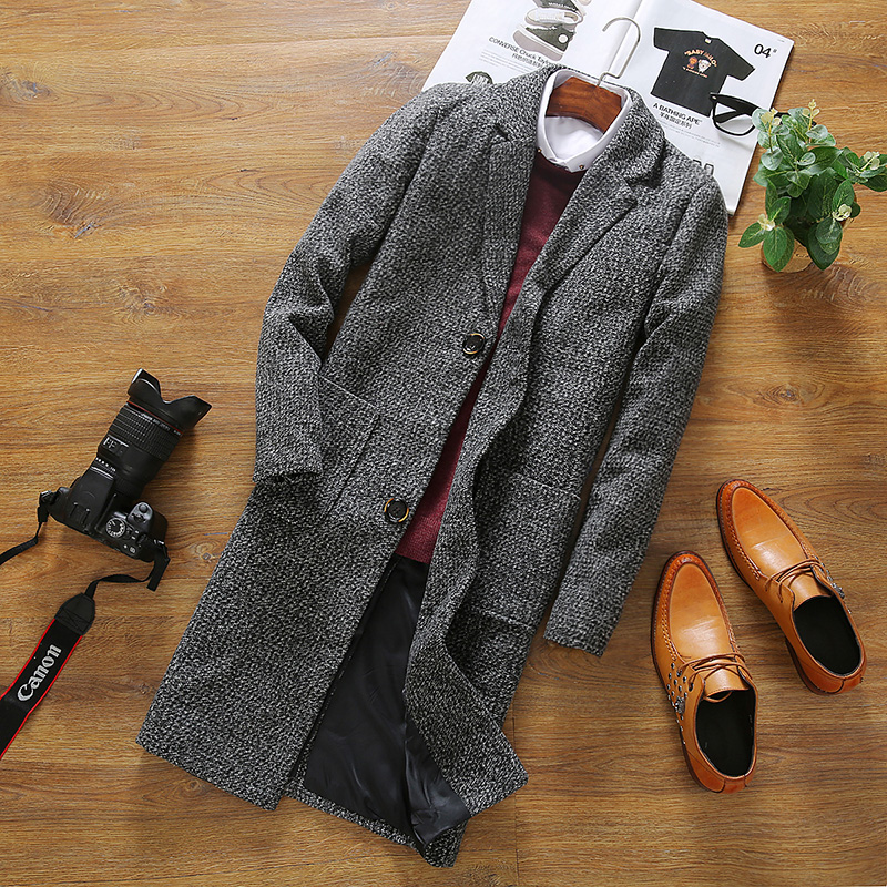 Leisure Long Sections Woolen Coats