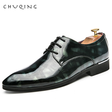 CHUQING 2019 Formal Shoes Men Fashion Casual Oxfords Solid Color Low Heel  Dress Breathable